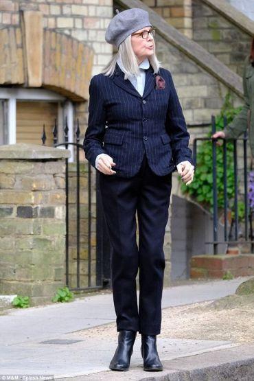 стиль 50+, женский стиль, элегантность, костюм, современный стиль для женщин 40+ и 50+, яркий образ, персональный стиль, Дайан Китон, фото стильных женщин