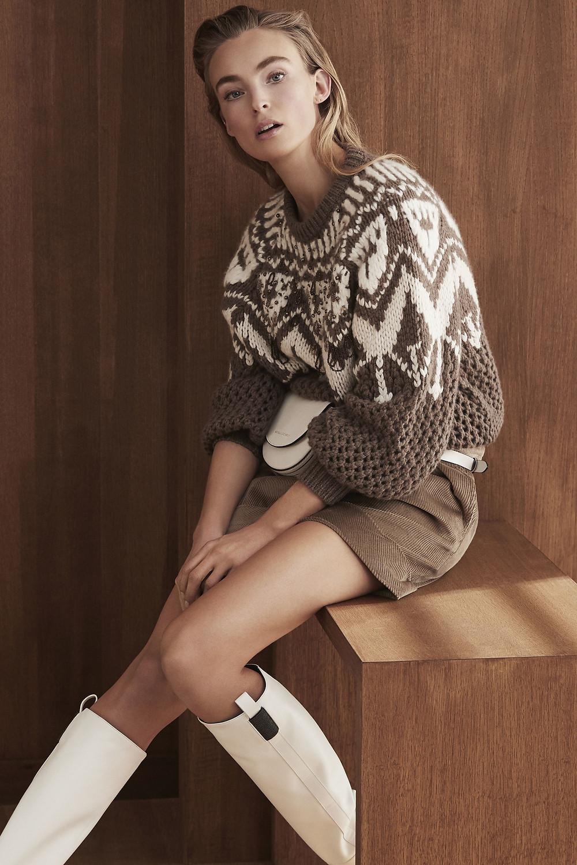 теплый свитер, стильный свитер, современный свитер, свитер с узором
