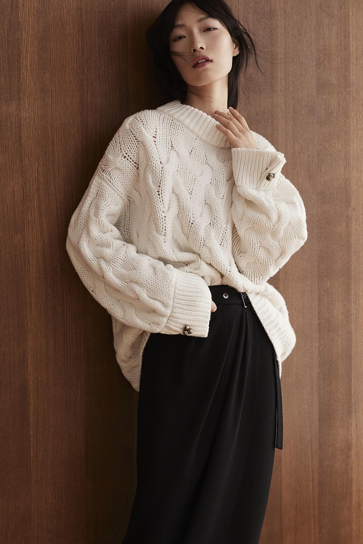 теплый свитер, светлый свитер, белый свитер