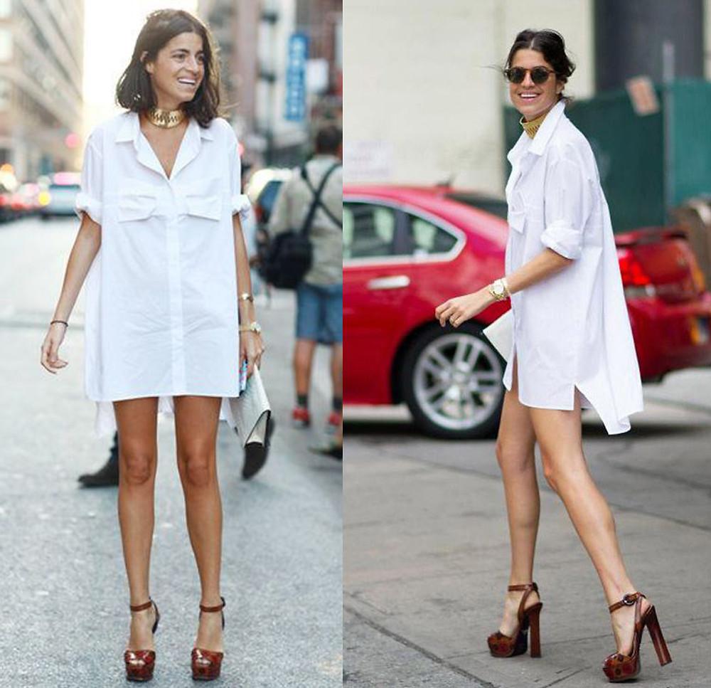 белая рубашка, свободная рубашка, рубашка прямого кроя, как носить белую рубашку, белая рубашка как платье-мини