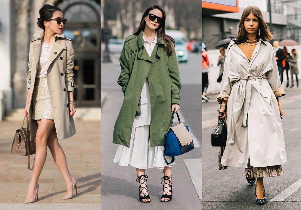 тренчкот, как носить тренчкот, классический тренчкот, широкая юбка