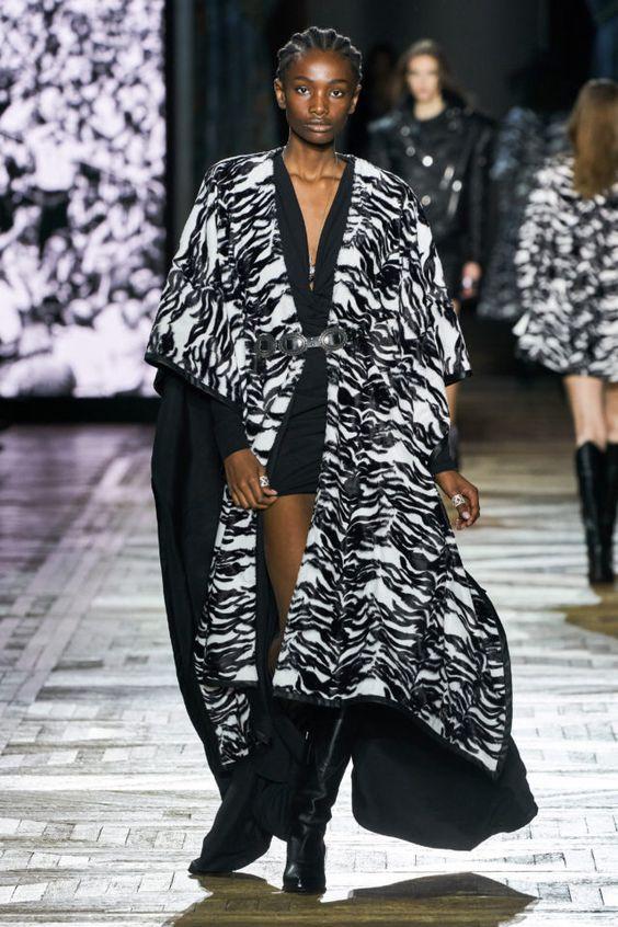 тренды сезона осень зима 2019 2020, модные принты, монохромный принт