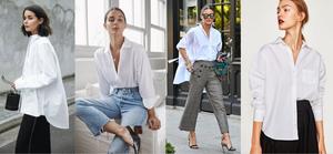 белая рубашка, женский стиль, современный стиль, как носить, тренды, тенденции,  модный образ