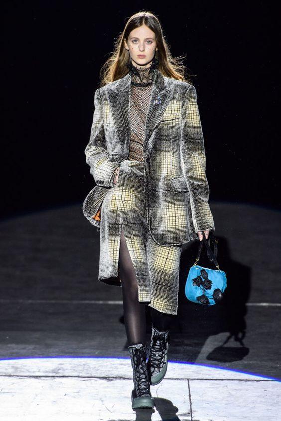 тренды сезона осень зима 2019 2020, модные принты, клетка, принт клетка, юбка в клетку, пальто в клетку
