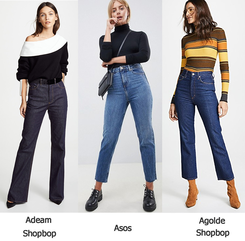джинсы с высокой талией, завышенная талия, мама джинсы, джинсы асос, шопбоп