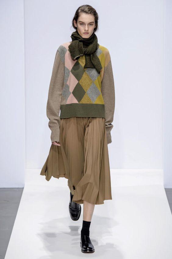 тренды сезона осень зима 2019 2020, модные принты, аргайл, принт аргайл, теплый свитер
