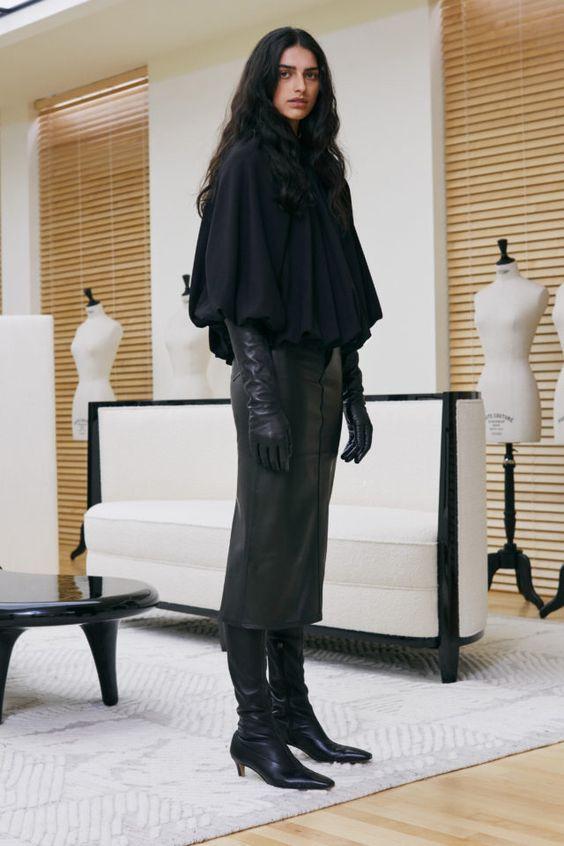 тренды сезона осень зима 2019 2020, модная деталировка, тренд, черные перчатки