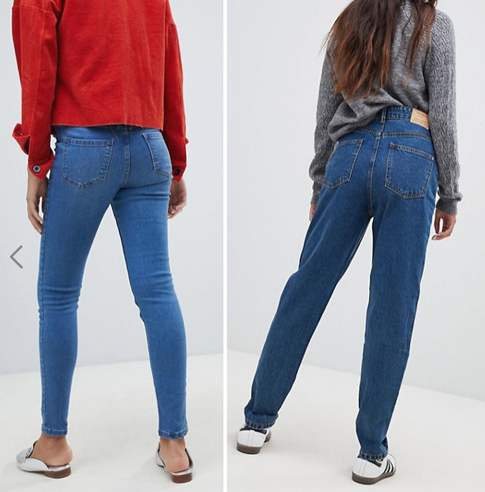 задние карманы на джинсах
