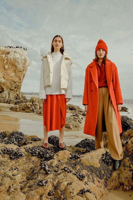 цвет, яркий образ, сочетание цветов, тренды осень зима 2019 2020, стильное сочетание цветов, нейтральный и яркий цвет, базовый и яркий цвет