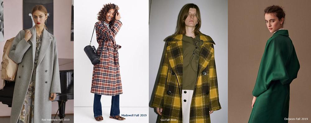 пальто, осеннее пальто, пальто в клетку, теплое пальто