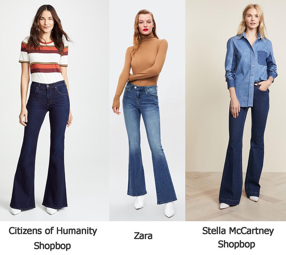 джинсы клеш, джинсы зара, стелла маккартни