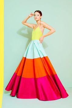 колор блокинг, платье, яркое платье, пышное платье