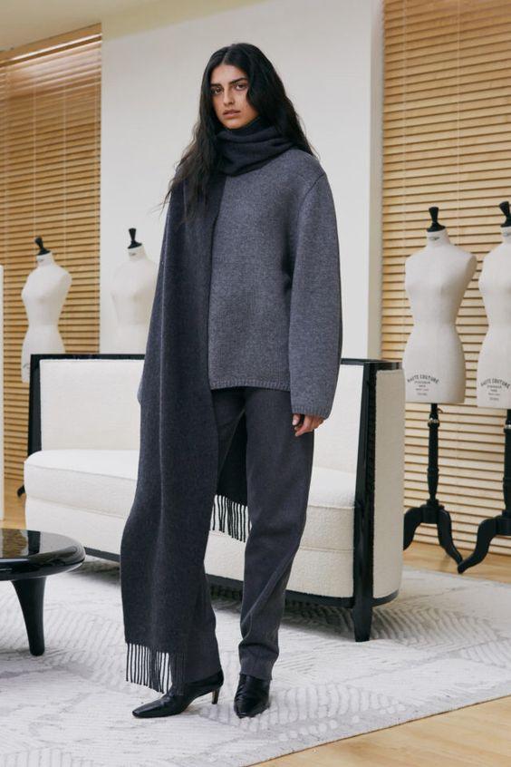 теплый свитер, стильный свитер, серый свитер, современный свитер