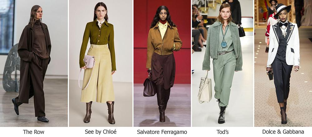 тренды сезона, осень зима 2018, модные брюки