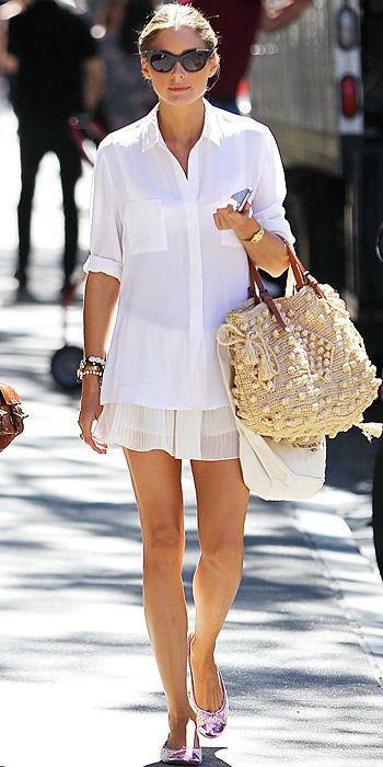 белая рубашка, свободная рубашка, рубашка прямого кроя, как носить белую рубашку, белая рубашка с мини юбкой
