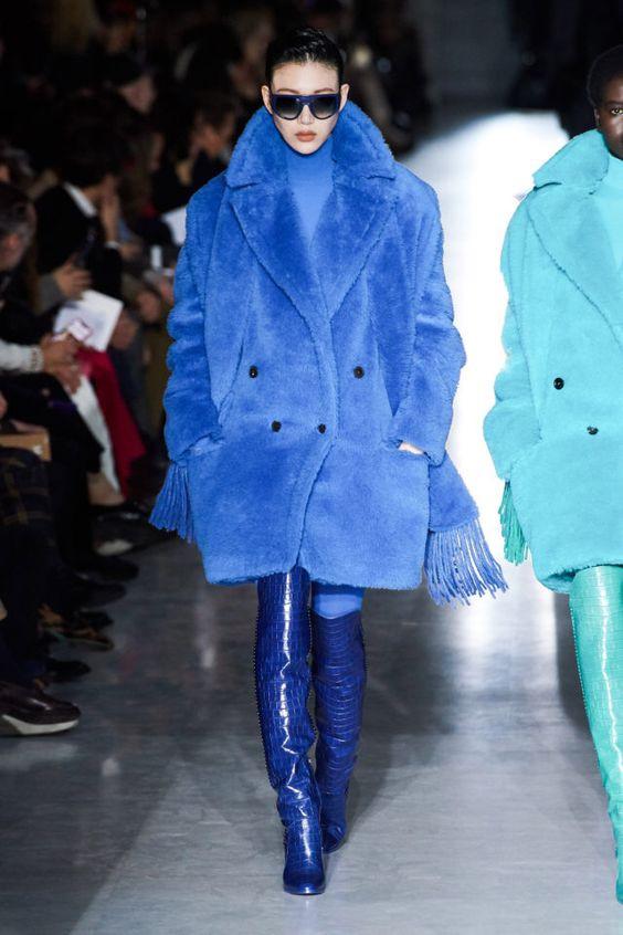 цвет, сочетание цветов, тренды осень зима 2019 2020, стильное сочетание цветов, монохромное сочетание, яркое пальто