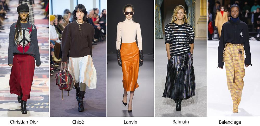 тренды сезона, осень зима 2018, модные юбки