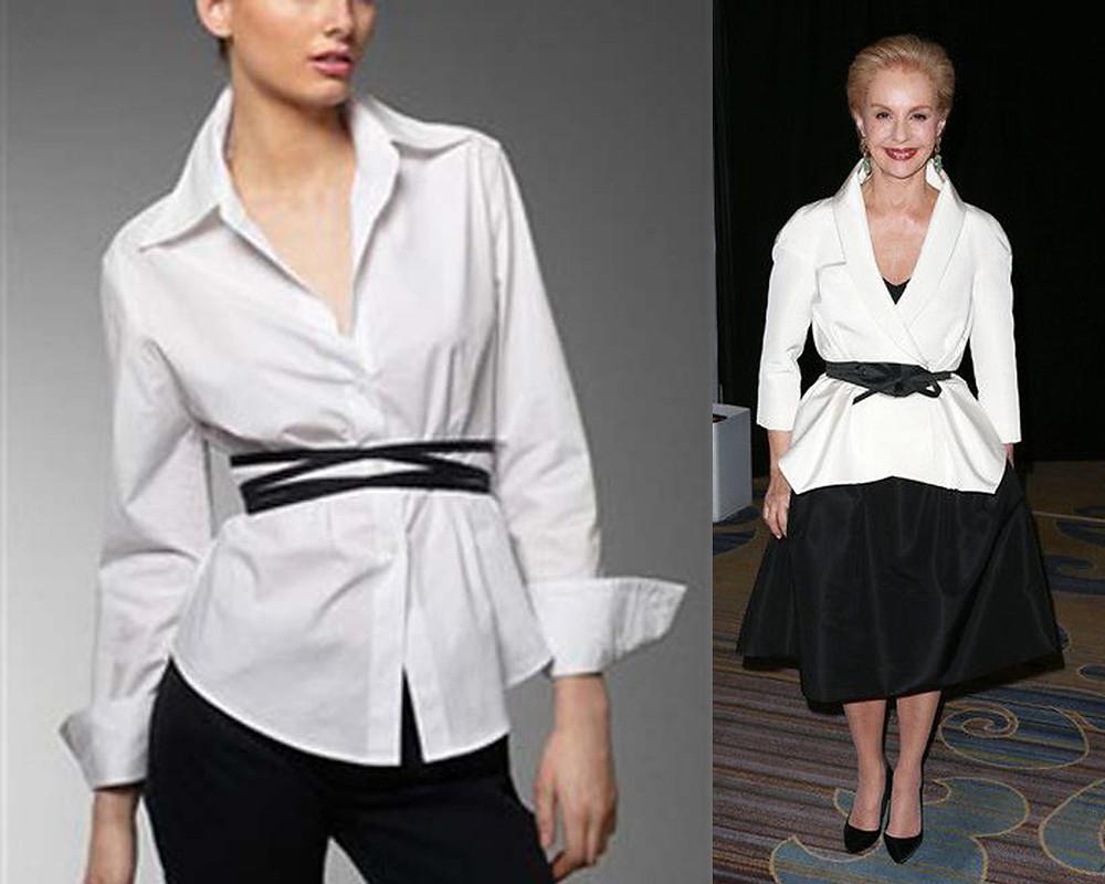 белая рубашка, свободная рубашка, рубашка прямого кроя, как носить белую рубашку, белая рубашка с ремнем, белая рубашка с контрастным ремнем, белая рубашка с черным ремнем