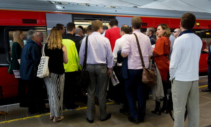 Packed London Tube