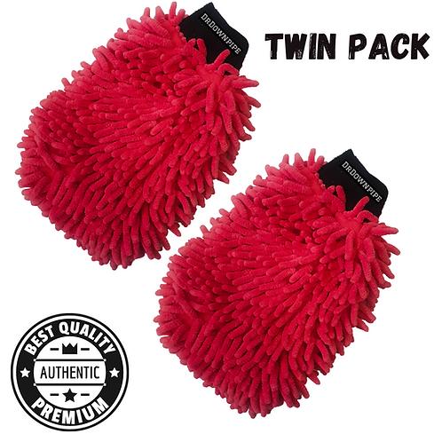 Premium Microfibre wash mitts (twin pack)