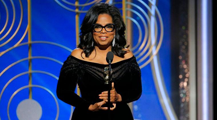 Oprah at the 2018 Golden Globes
