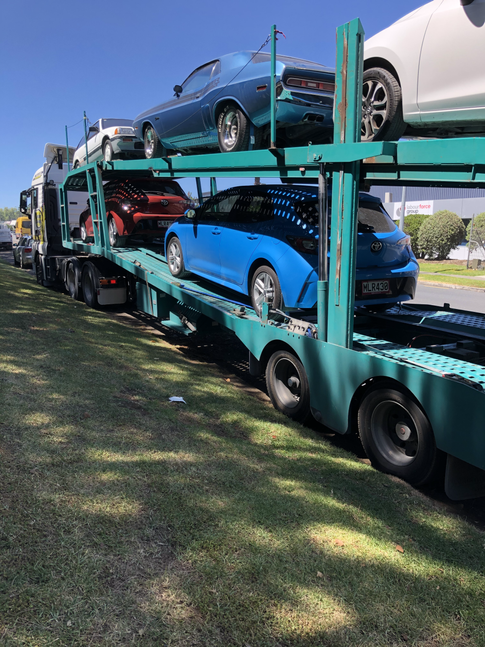 Transporter Loaded and off to the South Island