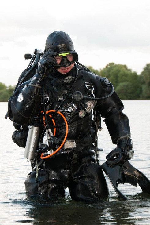 Dry-suit.. once you go black, you'll never look back