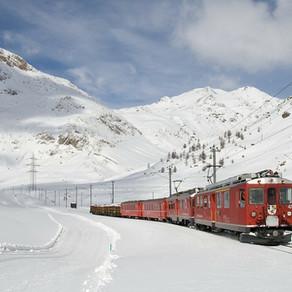 Met de trein op wintersport