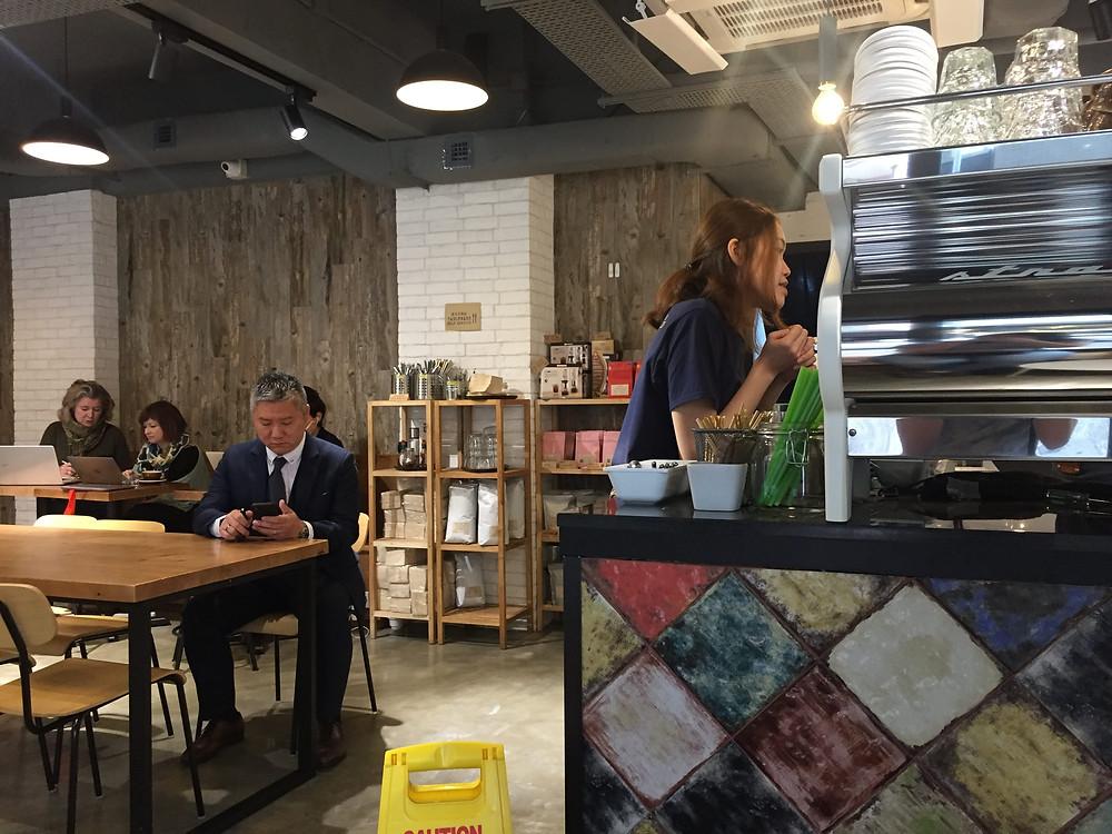Biologische en organische koffie drinken in Hong Kong