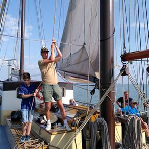 Met de zeilboot naar de Marker Wadden