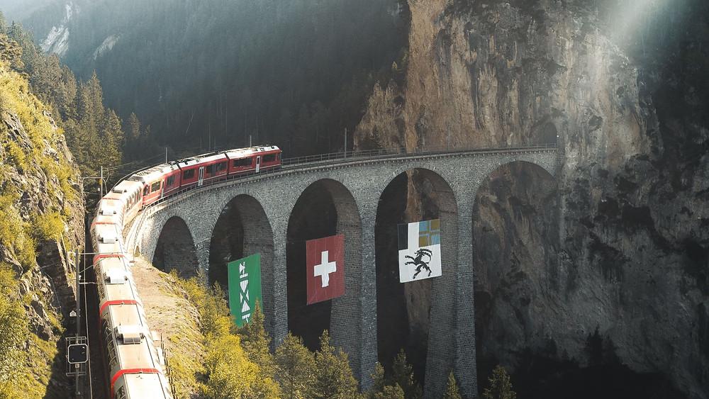 Tips voor treinreizen met een interrail pas in Zwitserland