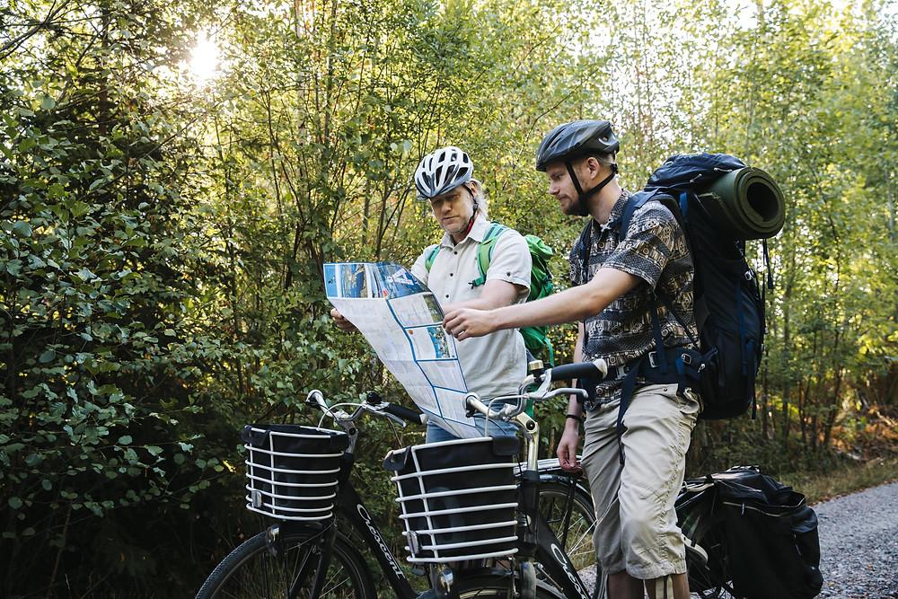 Fietsen door Asnen National Park Zweden