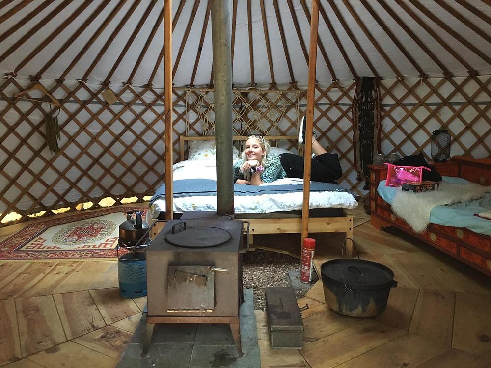 Zo slaap je in een yurt in de Nederlandse bossen