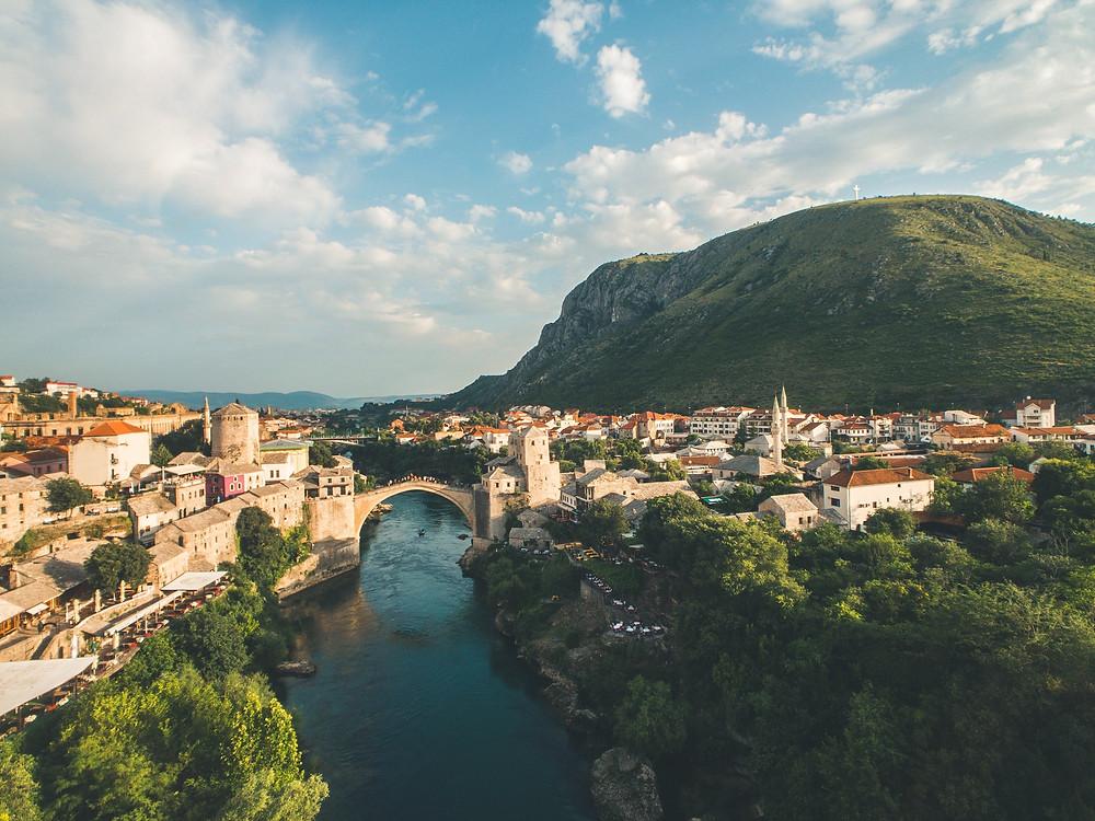 Mostar in Bosnie Herzegovina is goed bereikbaar met de trein