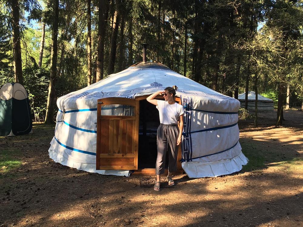 Vakantie in Nederland in een yurt in de bossen