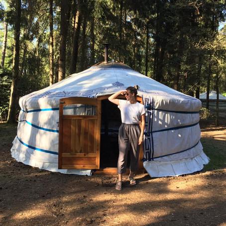 Slapen in een yurt in het Nederlandse bos