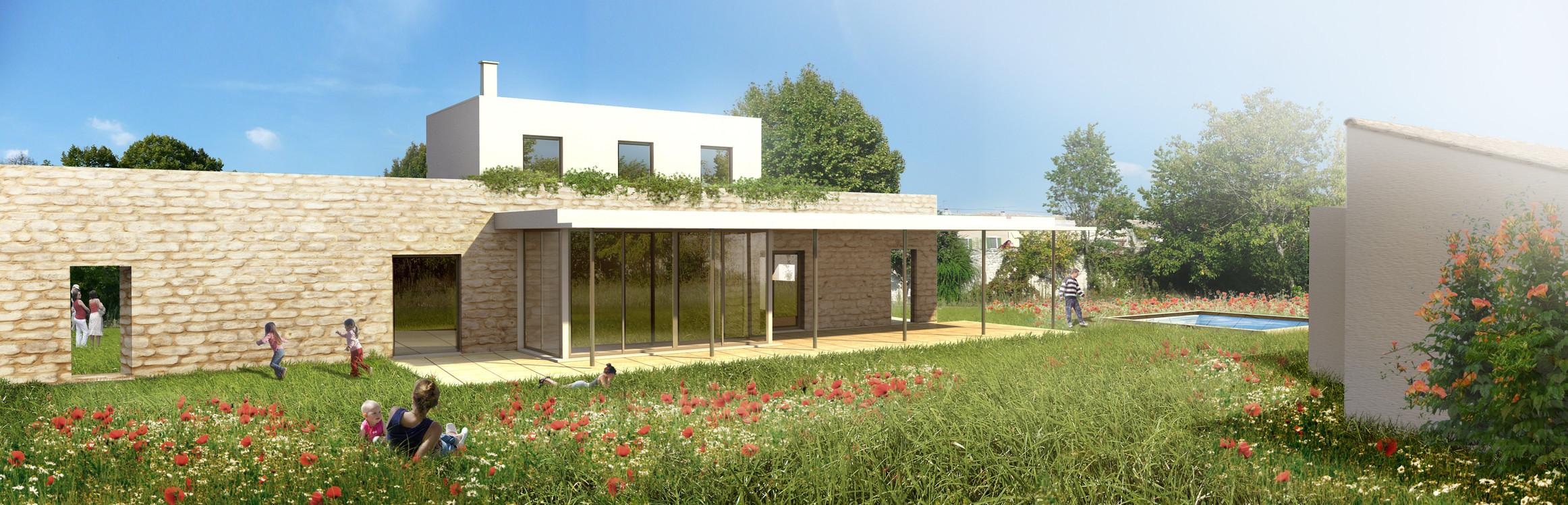 Maison individuelle - Illustration du PC Michel Escande Architecte