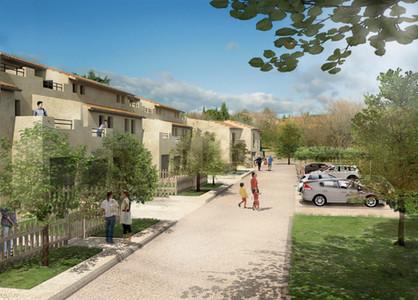 Résidence Les Hauts de Caromb - projet de promotion immobilière  Architecte R.Mognetti