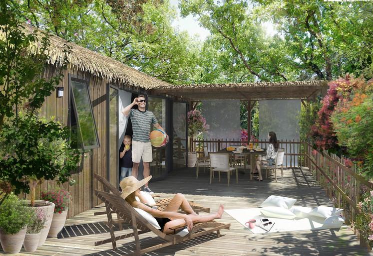 Visuel pour dossier de financement dans le cadre d'un projet d'extension de camping avec C.Frery Paysagiste