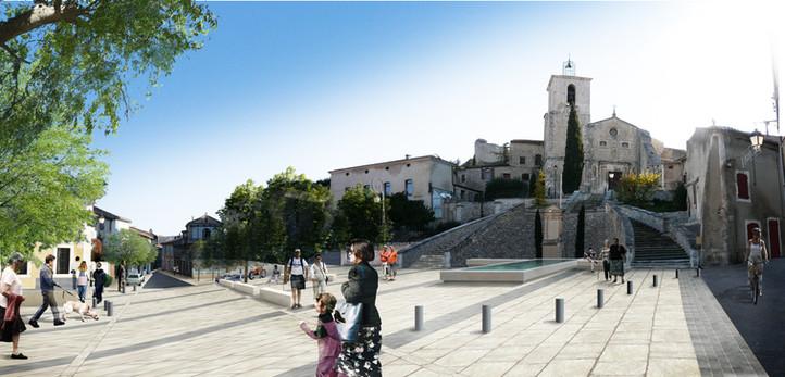 Aménagements urbains à Orgon (13) - Concours J. Léonardon Architecte