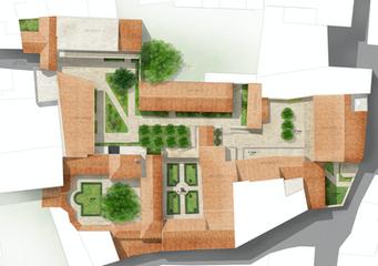 Habillage de plan masse pour projet de promotion immobilière en secteur sauvegardé  Michel Escande Architecte du Patrimoine & Panorama Architecture