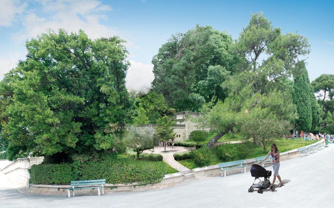 Aménagements du Jardinn des Doms - Avignon (84) Michel Escande Architecte du Patrimoine
