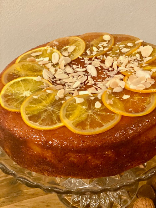 Pudding Large-Mediterranean Orange Cake with Toasted Almonds