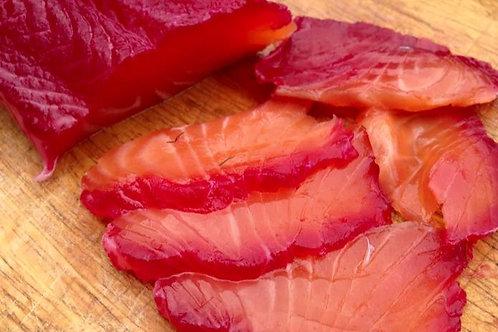 First Course-Cured Salmon, Orange, Fennel, Hazelnut & Wild Leaf Salad