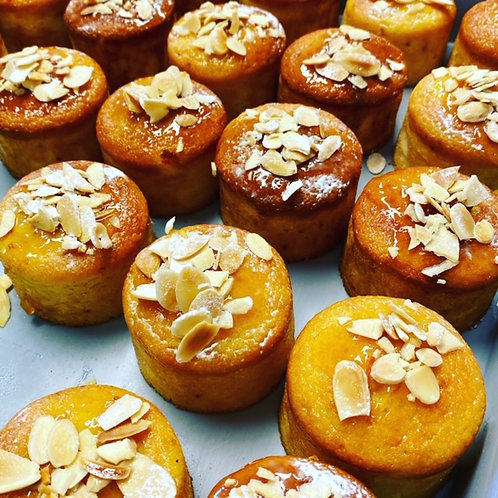 Individual  Mediterranean Orange and Almond Cake (Gluten Free)