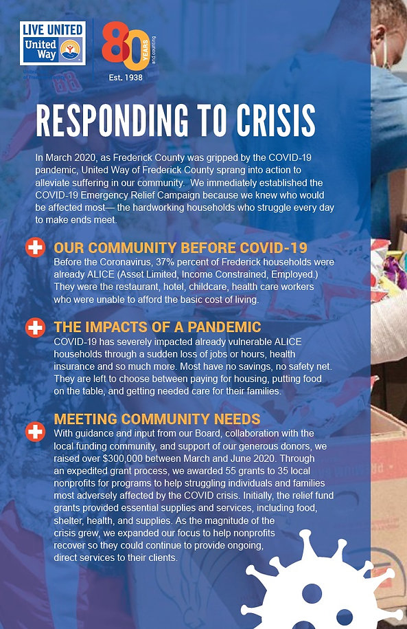 Responding To Crisis United Way of Frederick MD