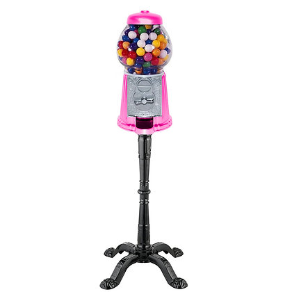 """HOT PINK 15"""" Classic Gumball Machine with Stand and Gumballs"""