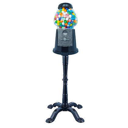 "Black Panther Combo 15"" Gumball Machine with Stand & 3 1/2 .lbs of gumballs"
