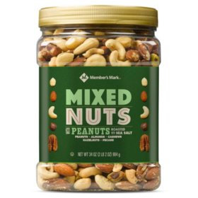 Roasted and Salted Mixed Nuts with Peanuts (34 oz.)