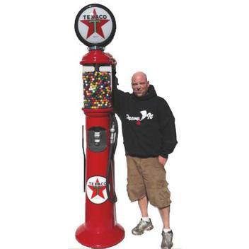 Old Fashion Gas Pumper Gumball Machine